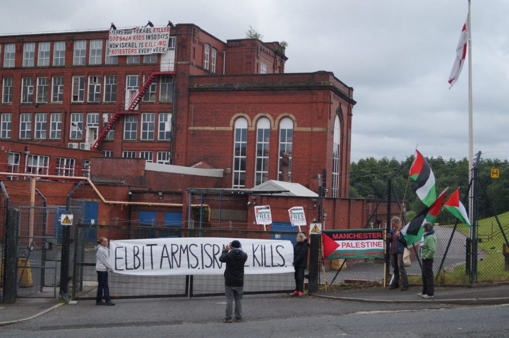 Activists scale Israel arms manufacter building, demand end to UK complicity in rights violations