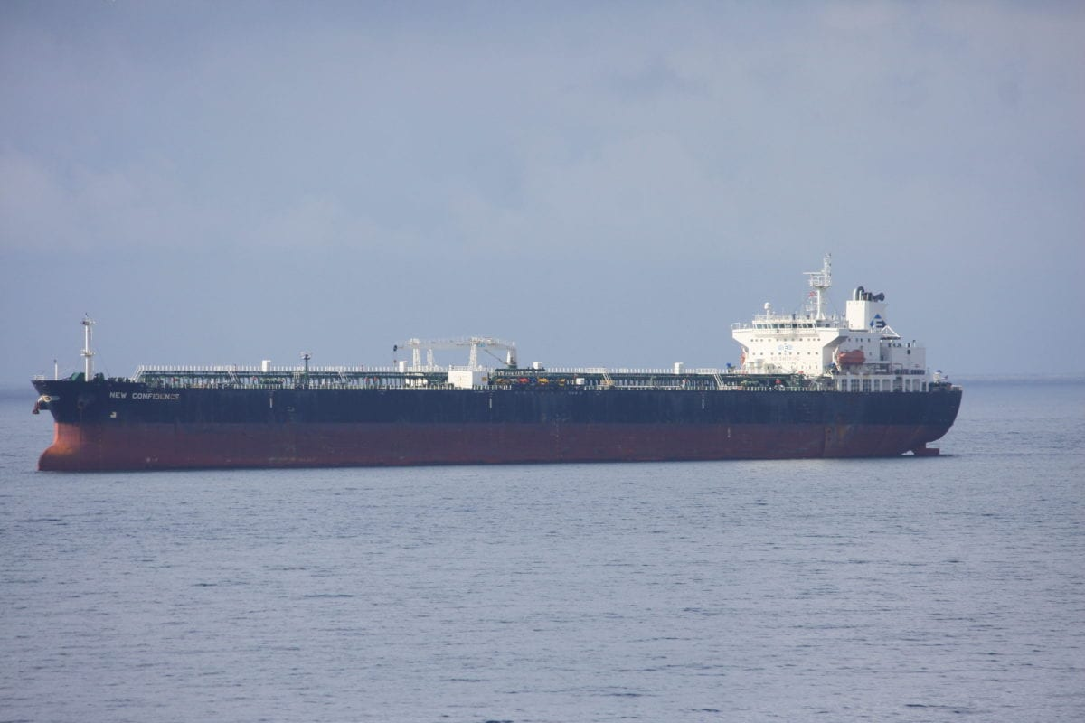 Crude oil tanker in Falmouth, Cornwall, UK, on 25 May 2014 [Flickr]
