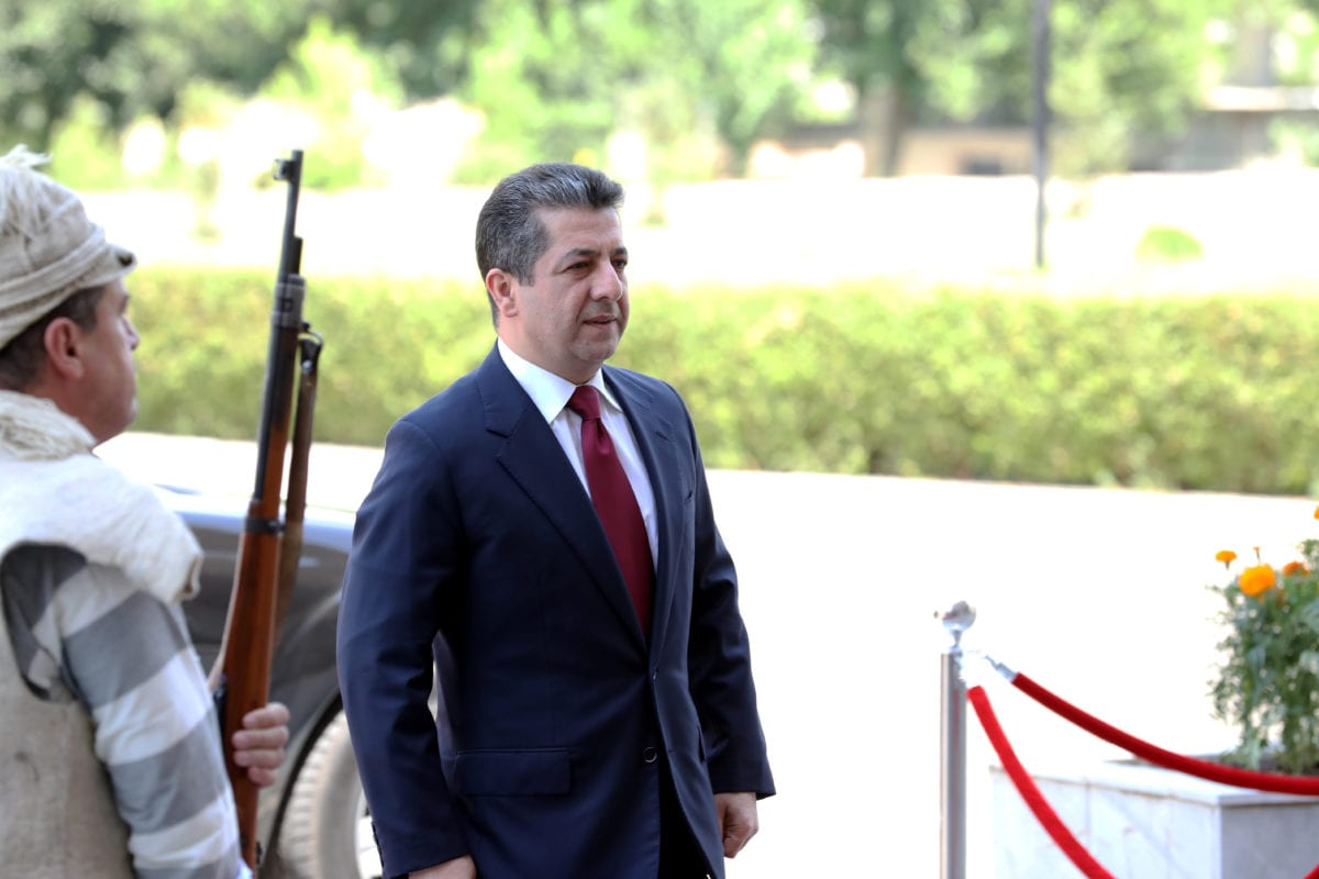 Masrour Barzani, new prime minister of the Kurdish Regional Government (KRG) arrives at the parliament in Erbil, Iraq on 10 July 2019. [Yunus Keleş - Anadolu Agency]