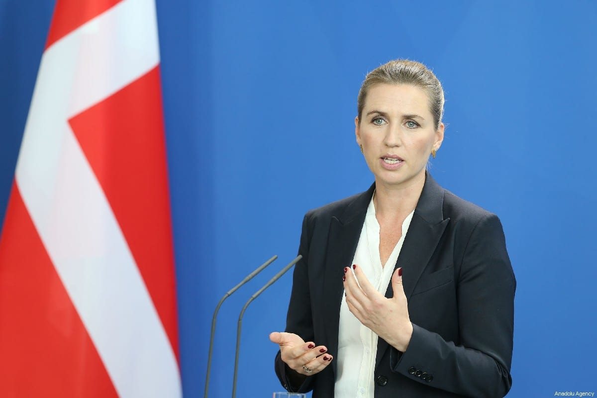 Danish Prime Minister Mette Frederiksen speaks during a joint press conference held with German Chancellor Angela Merkel (not seen) on 11 July 2019 in Berlin, Germany. [Cüneyt Karadağ - Anadolu Agency]