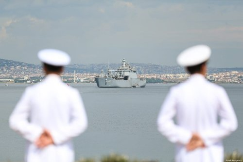 The open sea maritime training of the third grade students of Naval Academy of Turkish National Defense University, that will inclusive of the harbour visits at Albania, Italy, Spain, Tunisia and Turkey's Mugla with TCG Bayraktar navy vessel kicks off, on 12 July 2019 in Istanbul, Turkey. [Muhammed Enes Yıldırım - Anadolu Agency]