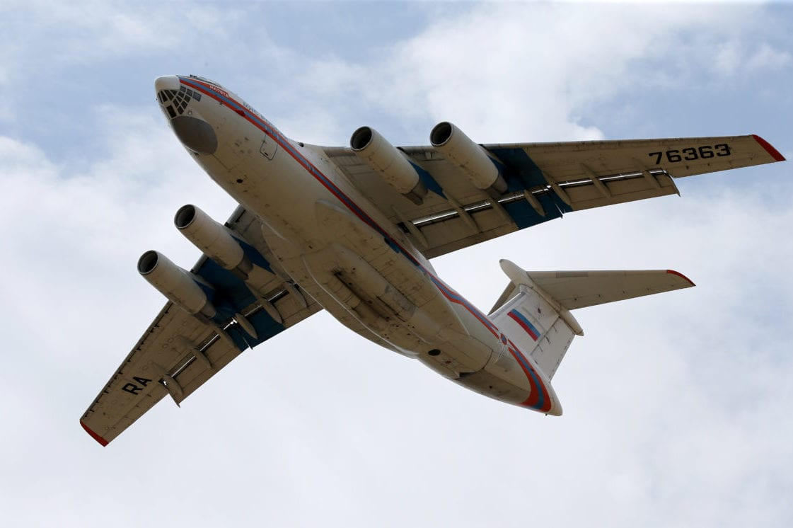 The 13th Russian cargo aircraft, delivered components of Russian S-400 Long Range Air and Missile Defense Systems, takes off from Murted Air Base in Ankara, Turkey on 17 July 2019. [Raşit Aydoğan - Anadolu Agency]