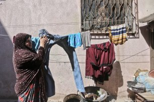 """Despite the fact that 15 family members live together in this house, neither the husband or children has a suitable job,"""" Fareeda Masoud"""