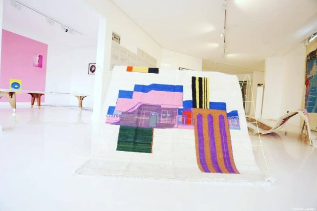 An exhibition at the Dasthe Art Space in Casablanca, Morocco on 23 July 2019 [Yasmine Laraqui]