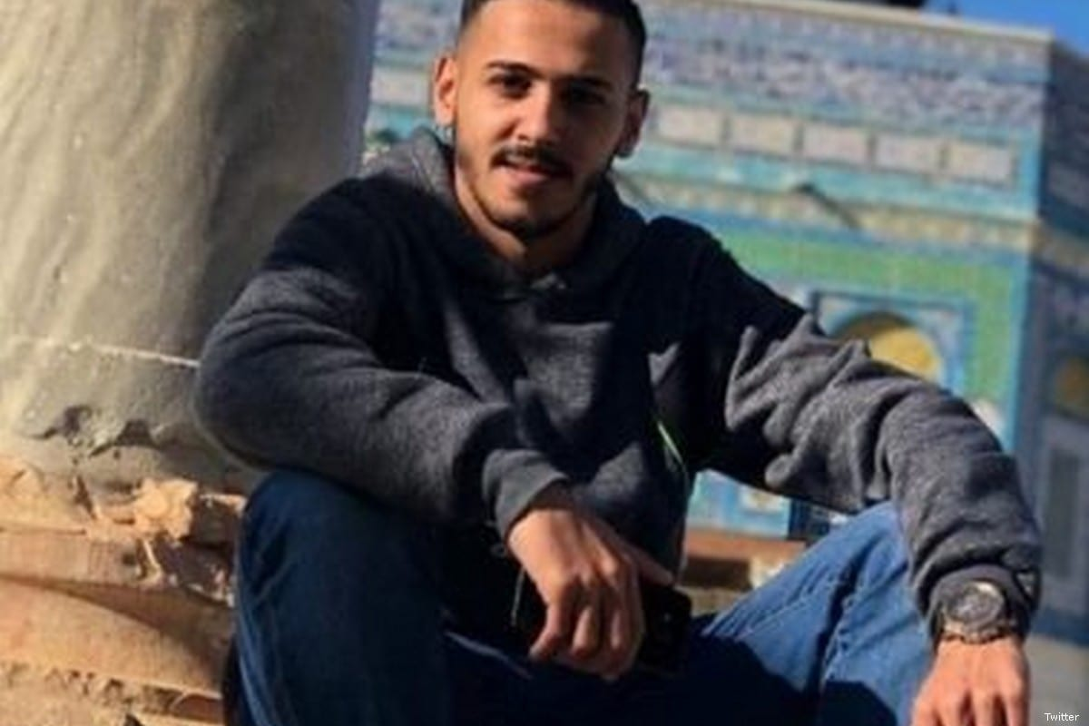 Mohammad Samir, 20, was shot with live ammunition in the heart and the chest by Israeli forces in Jerusalem on 27 June 2019