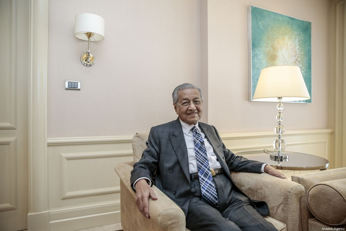 Malaysian Prime Minister Mahathir Mohamad seen during an interview in Ankara, Turkey on July 26, 2019 [Metin Aktas / Anadolu Agency]