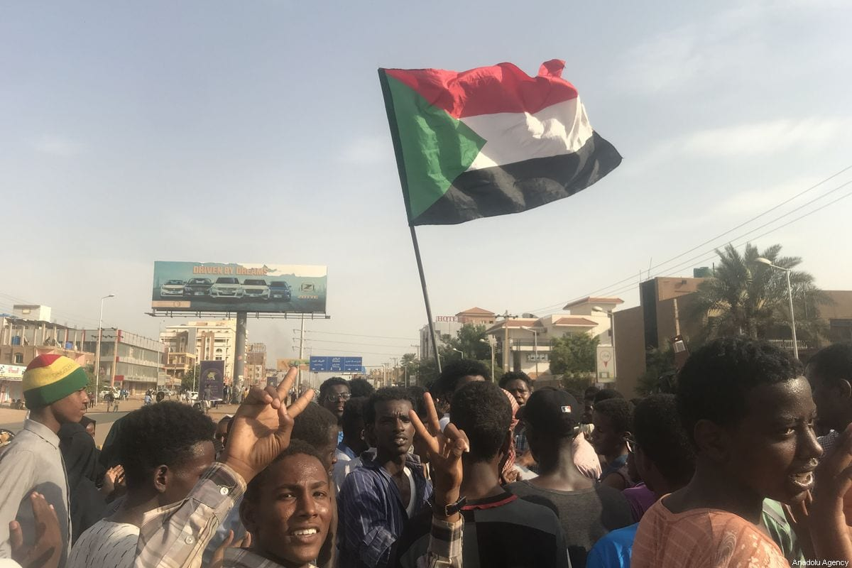 Demonstrators protest against fatal shooting that left five child protesters dead in the central city of Al-Obeid, on 30 July 2019, in Khartoum, Sudan. [Ömer Erdem - Anadolu Agency]