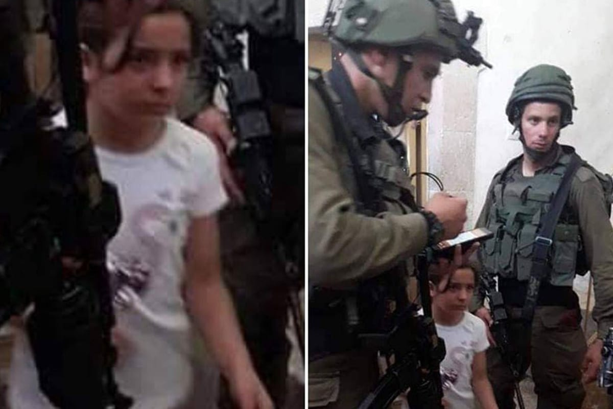 Israeli forces summoned an eight-year-old Palestinian girl, Malak Sadr for interrogation in the West Bank city of Hebron