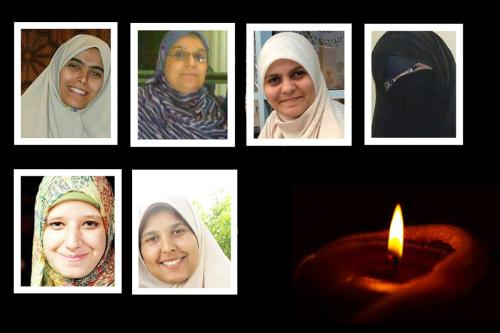 The names and faces of women killed in Egypt's Rabaa 2013