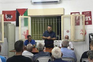 The Joint List launched its election campaign ahead of Israel's general election in September, with veteran Knesset Member (MK) Yousef Jabareen and prominent Jaffa activist Sami Abu Shehadeh addressing the audience in Jaffa on 6 August 2019 [Yousef Jabareen]