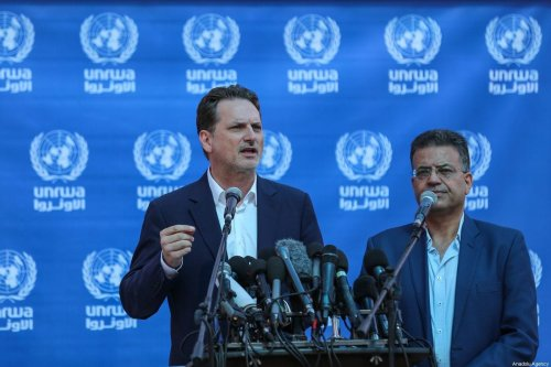 Pierre Krahenbuhl, the former commissioner-general for the UN Relief and Works Agency for Palestine Refugees (UNRWA) in Gaza City, Gaza on 27 August 2019 [Mustafa Hassona/Anadolu Agency]