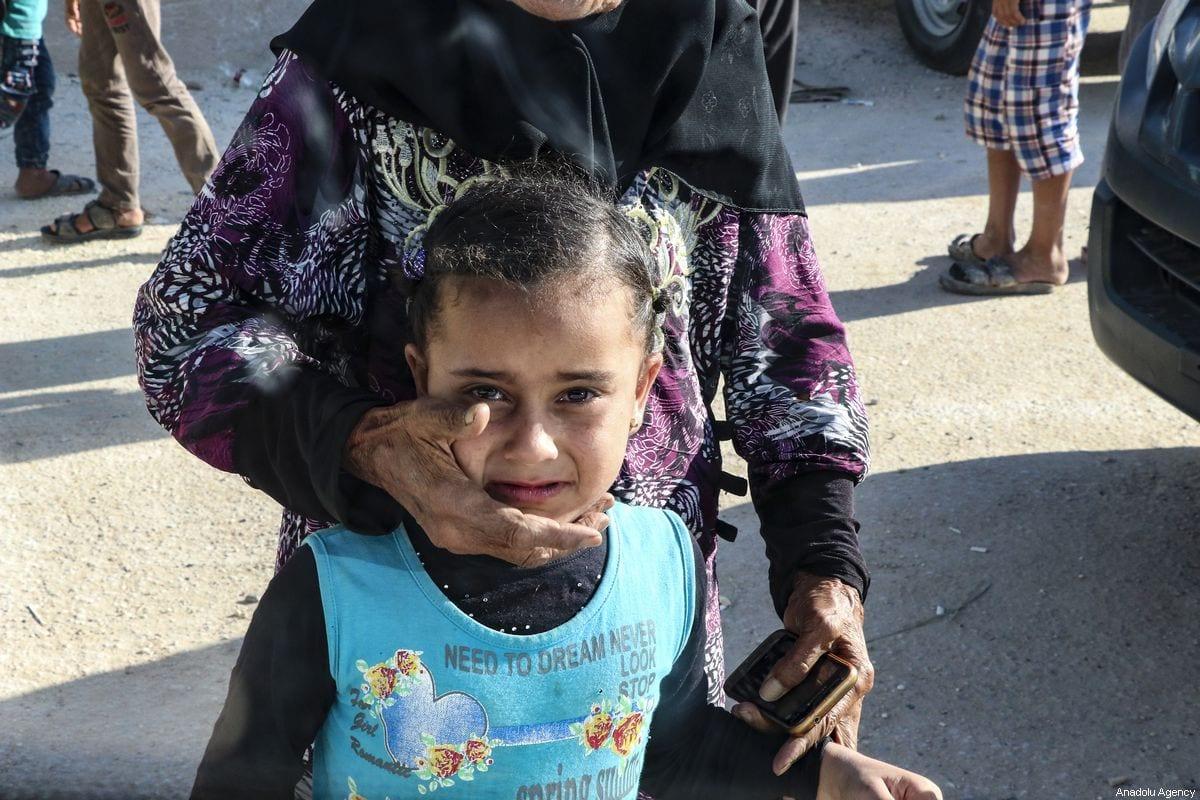A Syrian girl at a refugee camp in Aleppo, Syria on 29 August 2019 [Esra Hacıoğlu/Anadolu Agency]