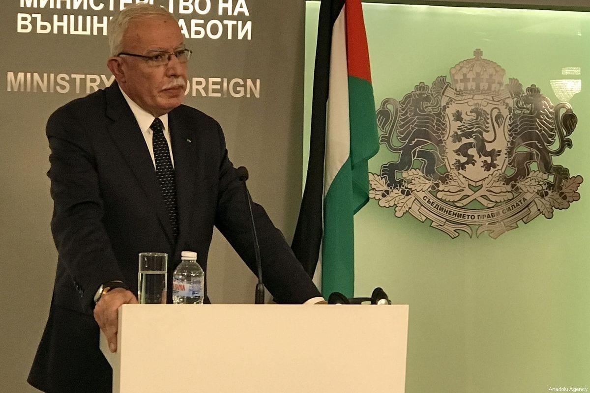 Palestinian Foreign Minister, Riyad al-Maliki on September 02, 2019 [İhvan Radoykov - Anadolu Agency]