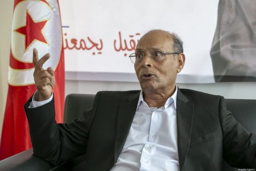 Former Tunisian President Moncef Marzouki speaks during an exclusive interview in Tunis, Tunisia on September 01, 2019 [Yassine Gaidi/Anadolu Agency]