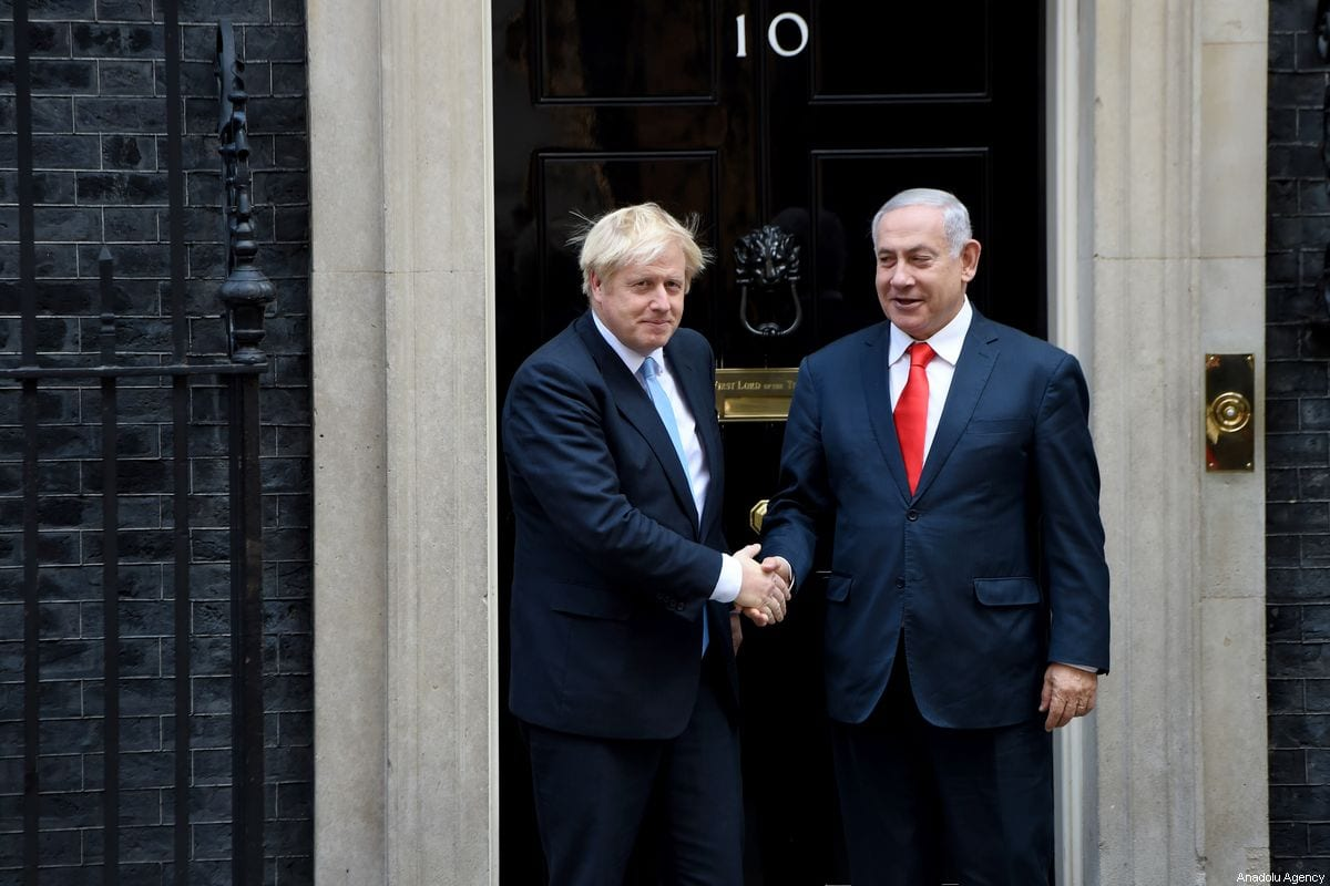 British Prime Minister Boris Johnson meets with Benjamin Netanyahu at No. 10 Downing Street, in London, United Kingdom on September 5th, 2019 [Kate Green - Anadolu Agency]