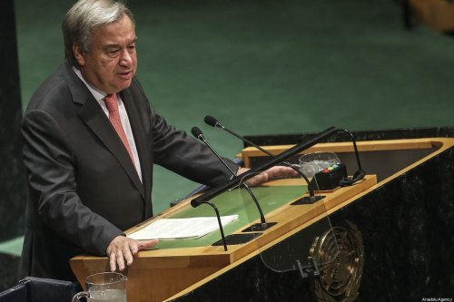 United Nations Secretary General, Antonio Guterres speaks at the 74th session of UN General Assembly at UN Headquarters in New York, United States on 24 September, 2019 [Erçin Top/Anadolu Agency]
