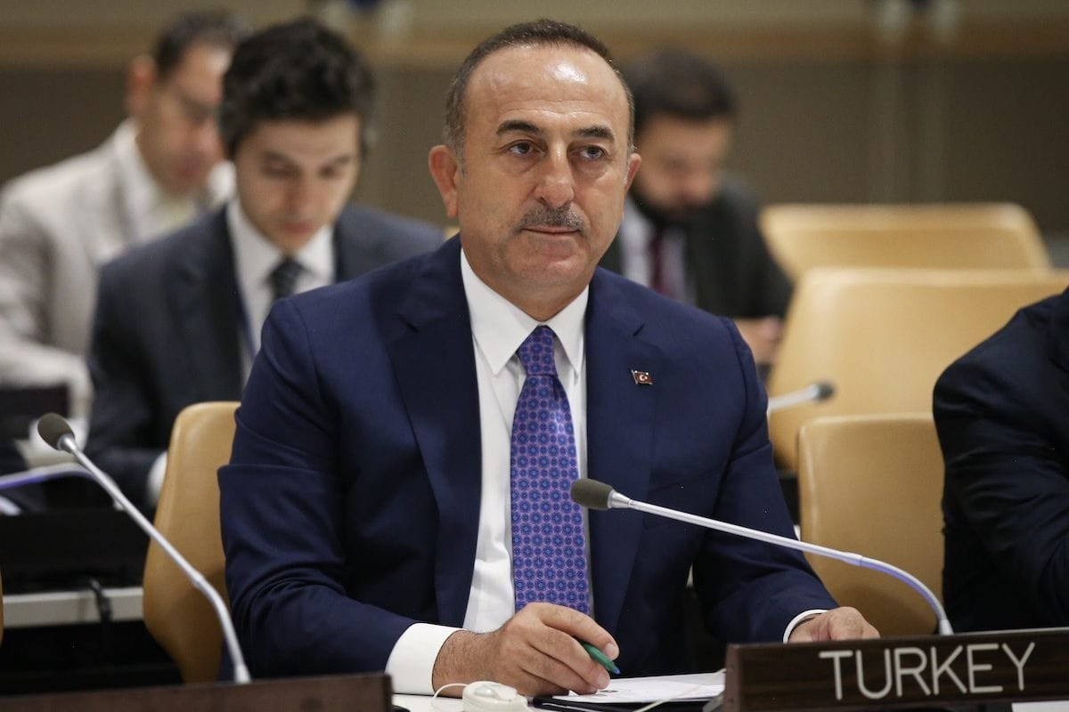 Minister of Foreign Affairs of Turkey, Mevlut Cavusoglu attends the 'Palestine Committee Meeting ' within the 74th session of UN General Assembly in New York, United States on 25 September 2019. [Cem Özdel - Anadolu Agency]