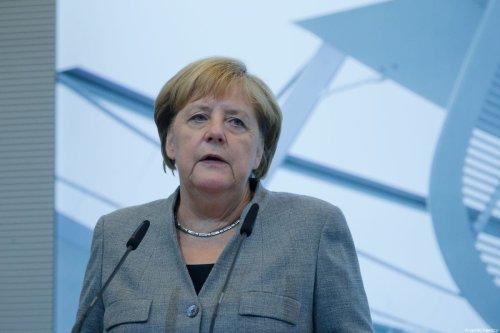 German Chancellor Angela Merkel in Berlin, Germany, on 25 September 2019 [Abdülhamid Hoşbaş/Anadolu Agency]