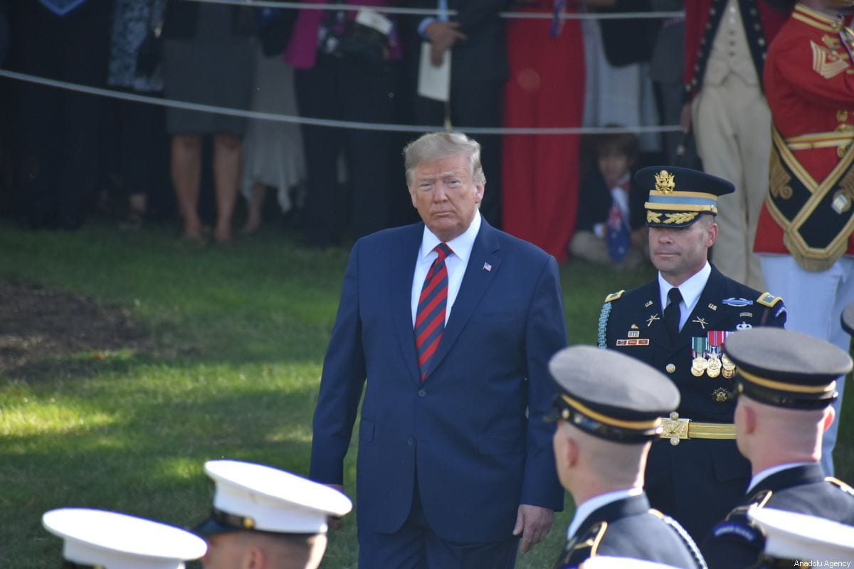 US President Donald Trump at the White House in Washington, DC, United States on 20 September 2019 [Kyle Mazza/Anadolu Agency]