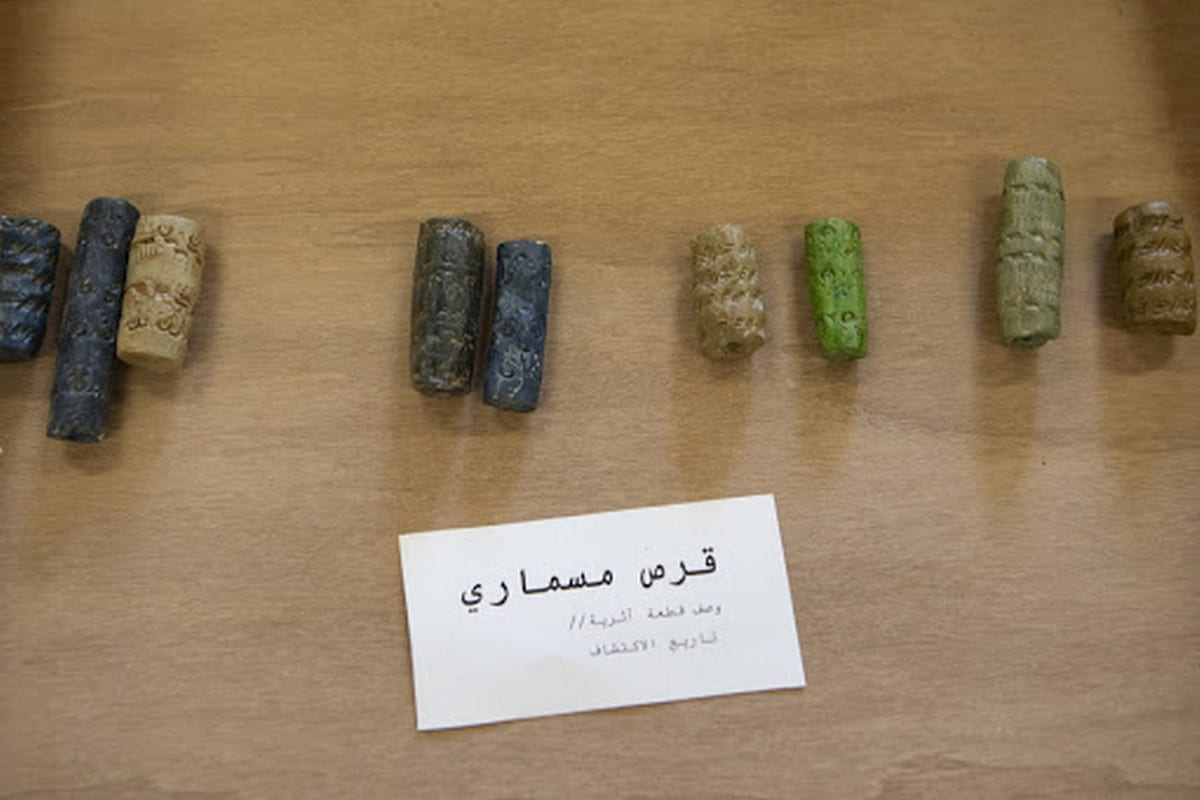 Facsimiles of Iraq's prized antiquities looted in the context of America's 2003 war on Iraq [Elie Kurrtz © RSC]