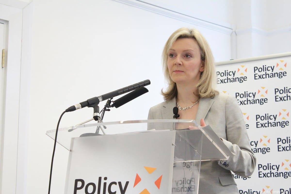 UK's international trade secretary, Liz Truss