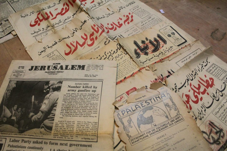 Nablusi started and continues to collect old documents to preserve proof that a place called Palestine existed before the state of Israel was created in 1948