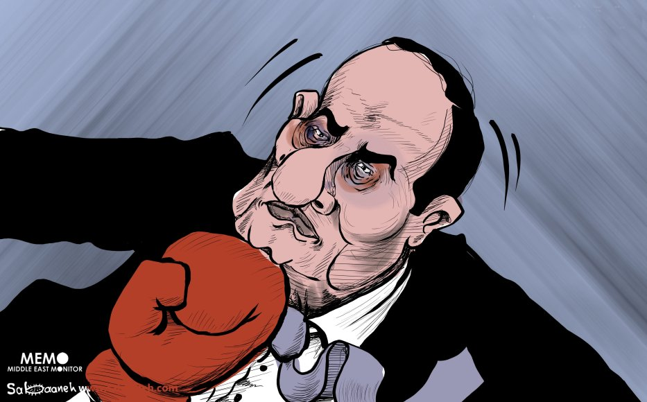 Egypt protesters call on Sisi to step down - Cartoon [Sabaaneh/MiddleEastMonitor]