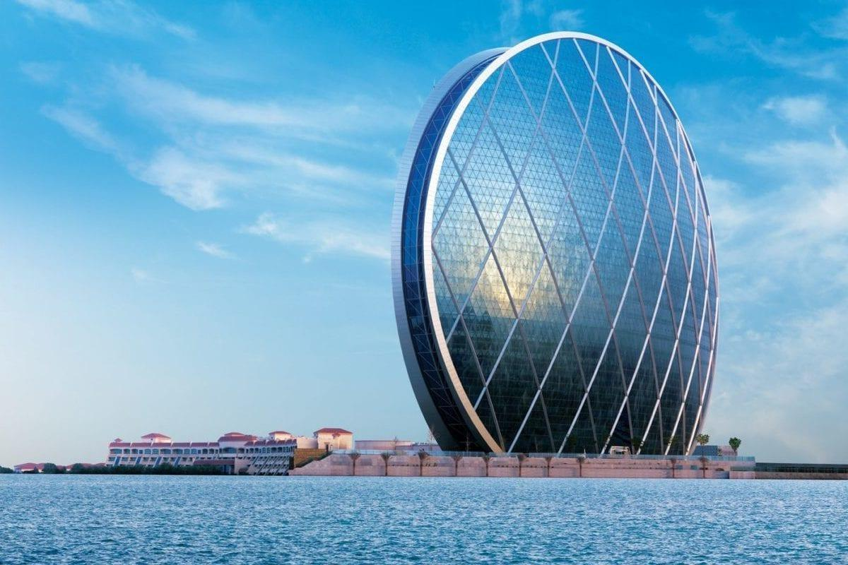 The Aldar Headquarters building in Abu Dhabi, UAE, home to the UAE's controversial DarkMatter cyber security company [undated]