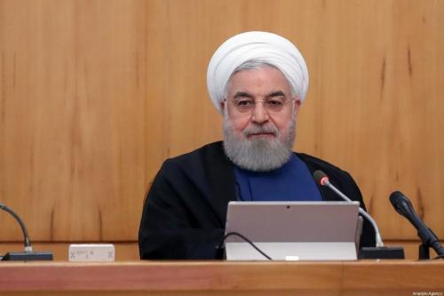 Iranian President Hassan Rouhani in Tehran, Iran on 2 October 2019 [IRANIAN PRESIDENCY/Anadolu Agency]