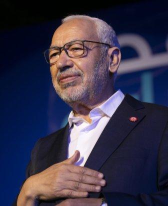 Tunisian Parliament Speaker Rashid Ghannouchi in Tunis, Tunisia on 4 October 2019 [Yassine Gaidi/Anadolu Agency]