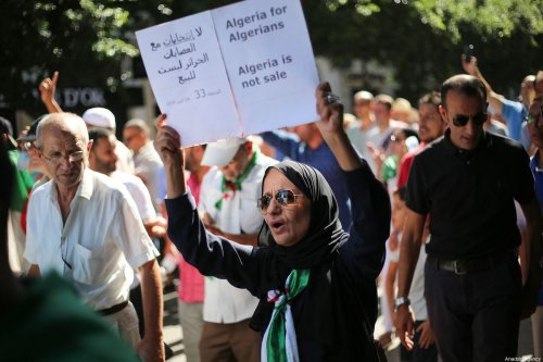 Algerians stage a demonstration demanding regime officials - who continue to work after former President Abdelaziz Bouteflika resigned -- to step down, in Algiers, Algeria on 4 October, 2019 [Mustafa Hassona/Anadolu Agency]