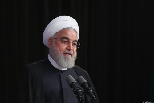 Iranian President, Hassan Rouhani speaks during a ceremony marking the beginning of academic year at University of Tehran on 16 October, 2019 in Tehran, Iran [Iranian Presidency/Handout/Anadolu Agency]