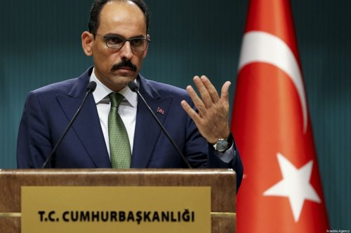 Turkey's presidential spokesman, Ibrahim Kalin in Ankara, Turkey on 16 October 2019 [Erçin Top/Anadolu Agency]