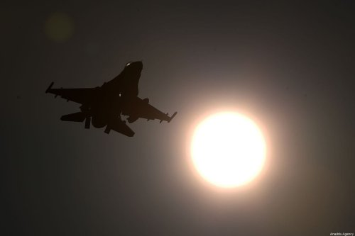 A Turkish military jet is seen after take off at the Incirlik 10th Tanker Base Command in Saricam district, during Turkey's Operation Peace Spring against Syrian targets, in Adana, Turkey on October 17, 2019 [İbrahim Erikan / Anadolu Agency]