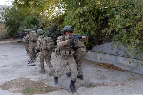 Members of Turkish Armed Forces (TSK) continue operations against Kurdish militia during Turkey's Operation Peace Spring in Ras Al Ayn, Syria on October 17, 2019 [TURKISH ARMED FORCES / HANDOUT - Anadolu Agency]