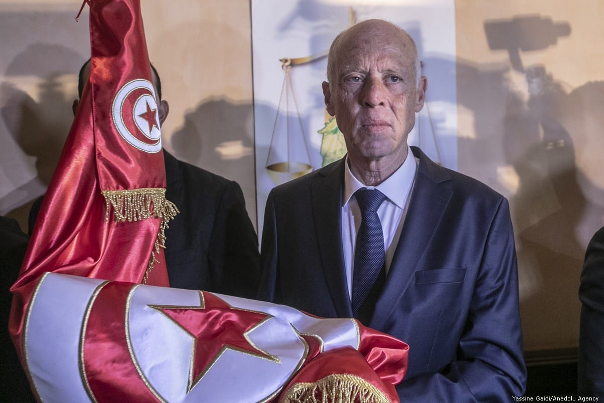 Tunisia's President KaisSaied in Tunis, Tunisia on 13 October 2019 [Yassine Gaidi/Anadolu Agency]