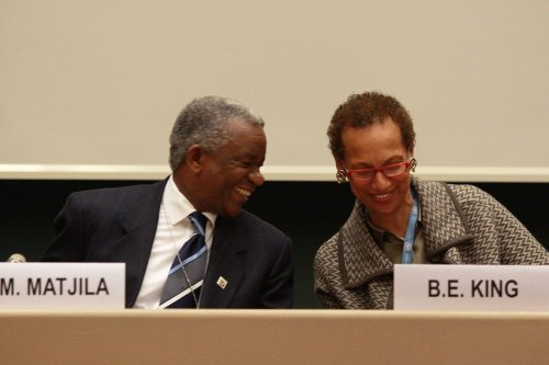Ambassador Jerry Matthews Matjila and Ambassador Betty E. King on 22 March 2010[Flickr]