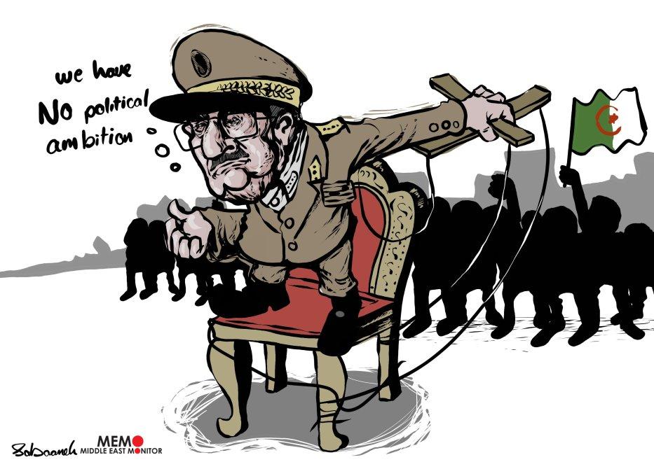 Algeria: Army leadership has no political ambitions - Cartoon [Sabaaneh/MiddleEastMonitor]