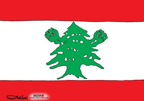 Protests in Lebanon - Cartoon [Sabaaneh/MiddleEastMonitor]