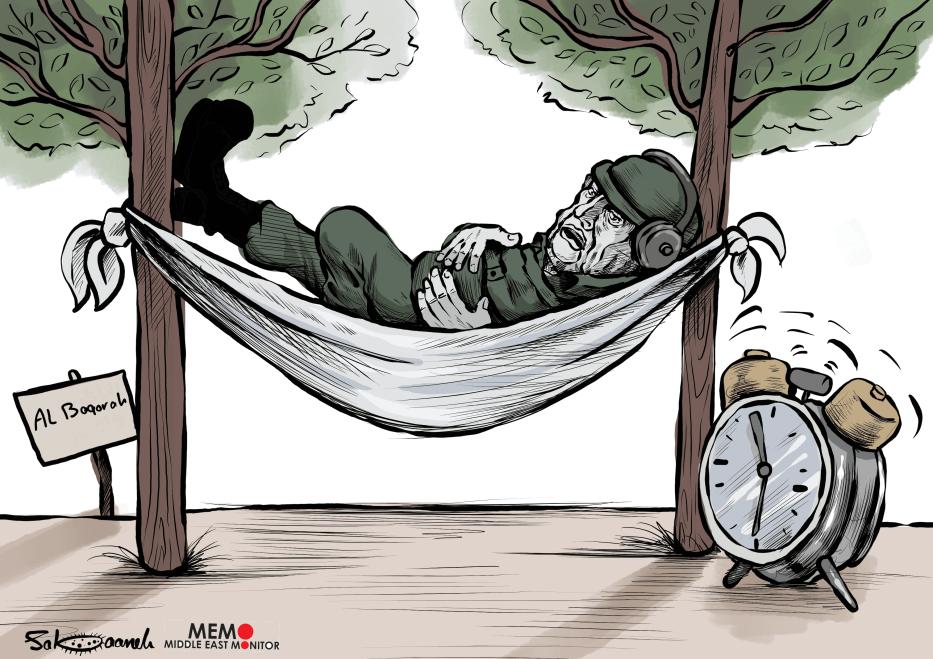 Jordan bans Israelis from entering Al-Baqura area - Cartoon [Sabaaneh/MiddleEastMonitor]