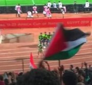 Egypt arrests fan for raising Palestine flag during football match