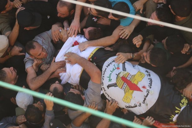 Senior Islamic Jihad leader Bahaa Abu Al-Ata and his wife are killed following an Israeli strike on his home in the Gaza Strip on 12 November 2019 [Mohammed Asad/Middle East Monitor]