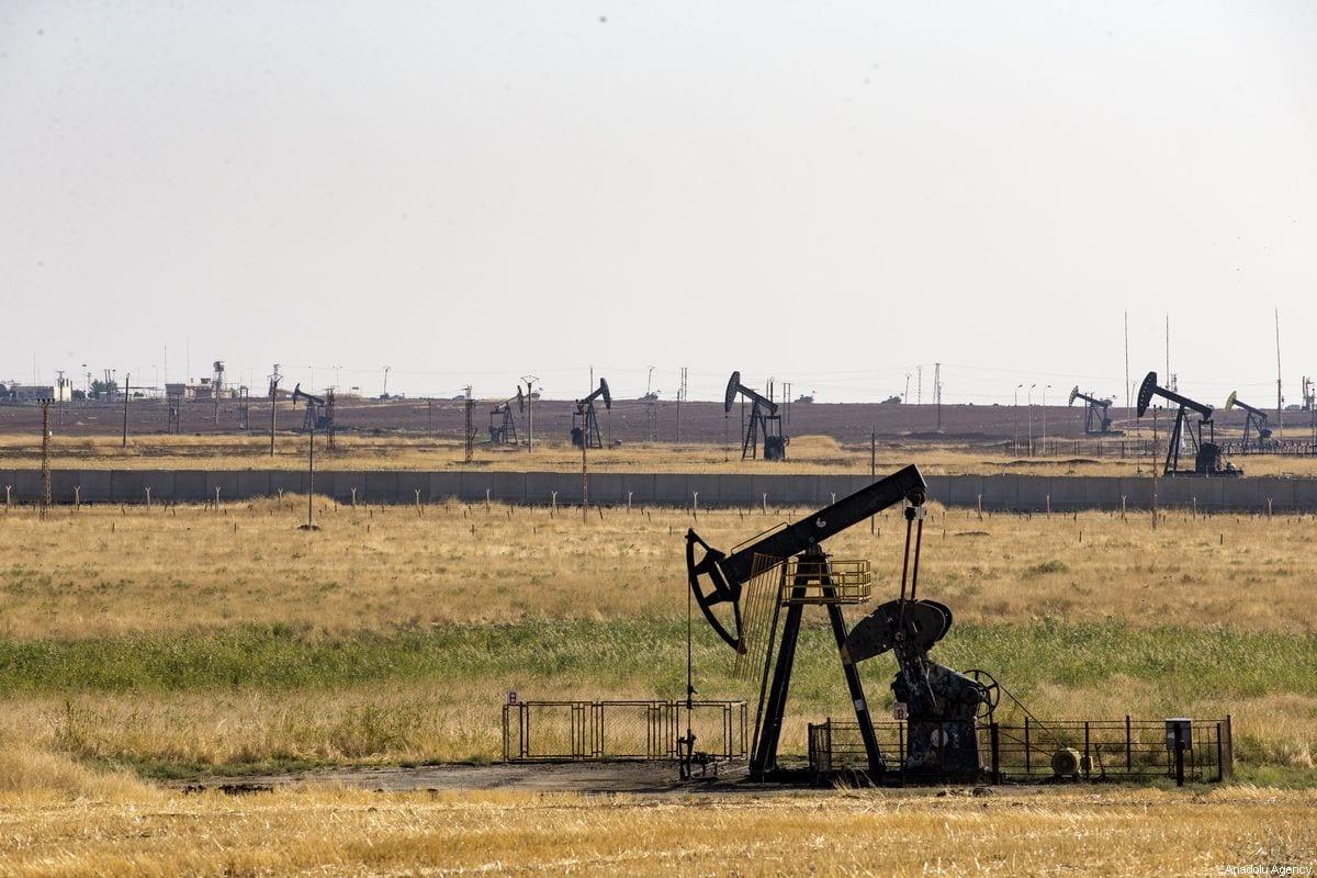 Oil reservoir in Syria on 1 November 2019 [Ömer Yasin Ergin/Anadolu Agency]