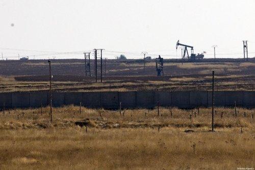 MARDIN, TURKEY - NOVEMBER 01: A photo taken from Mardin province of Turkey shows U.S. troops on November 01, 2019 resumed military patrols around oil reservoirs in northeastern Syria. ( Ömer Yasin Ergin - Anadolu Agency )