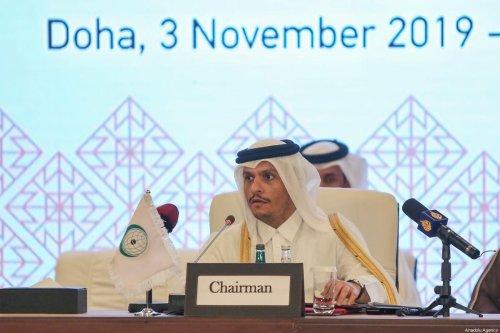 Qatari Foreign Minister Sheikh Mohammed Bin Abdulrahman Al Thani in in Doha, Qatar on 3 November 2019 [Cem Özdel/Anadolu Agency]