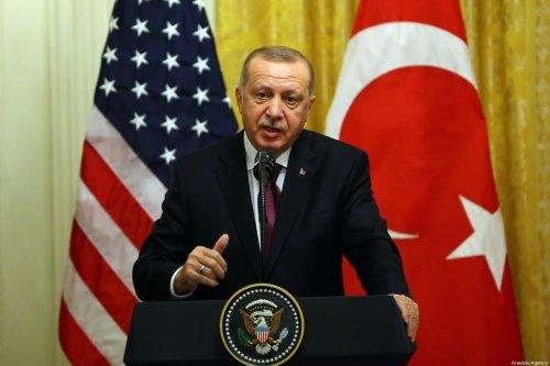President of Turkey, Recep Tayyip Erdogan at the White House in Washington, US on 13 November 2019 [Halil Sağırkaya/Anadolu Agency]