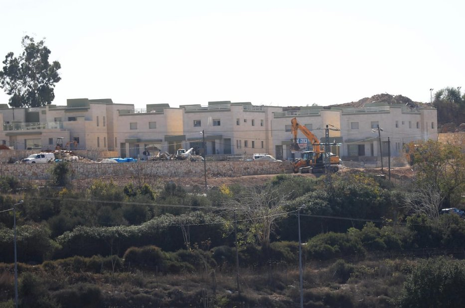 A general view of Halamish Jewish settlement after United States announced Israeli settlements in West Bank don't violate international law, in Ramallah, West Bank on 20 November 2019. [Issam Rimawi - Anadolu Agency]