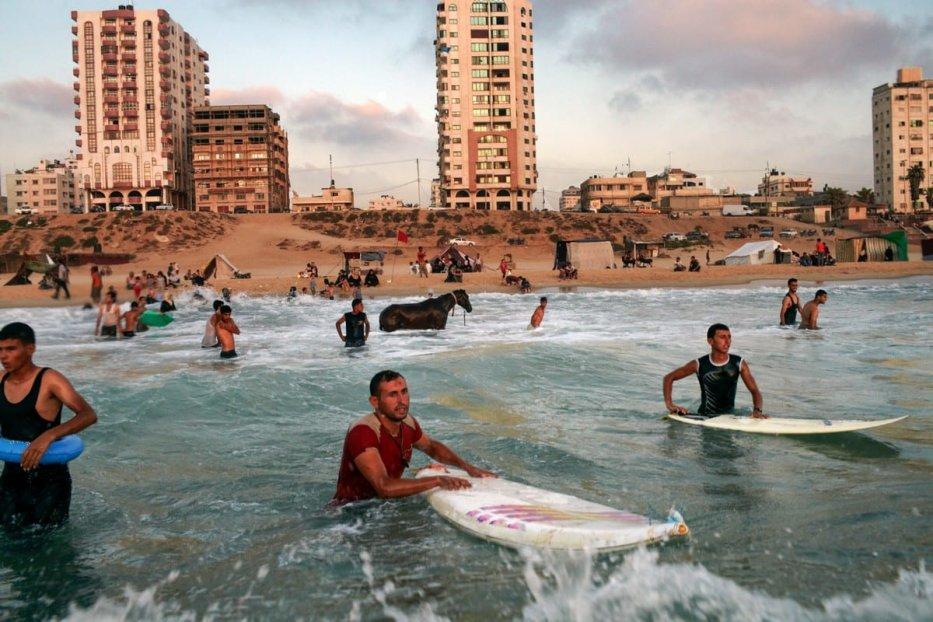 Palestinian beach - a still from the film, Gaza