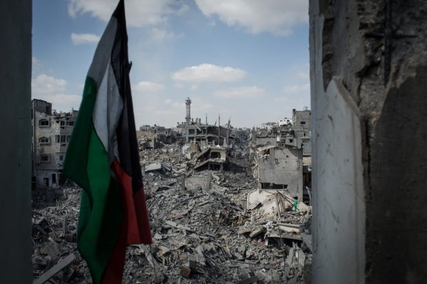 The devastated neighbourhood of Shejaiya in eastern Gaza city. Shejaiya saw some of the heaviest fighting of the war as Israel troops entered the district during their ground offensive.