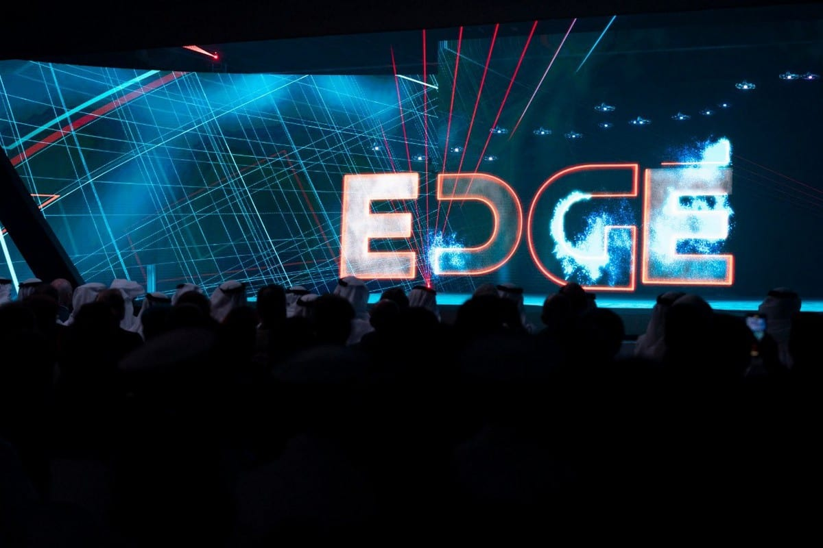 A ceremony for UAE's new defence company 'EDGE' on 5 November 2019 [Abu Dhabi Government Media Office/Twitter]